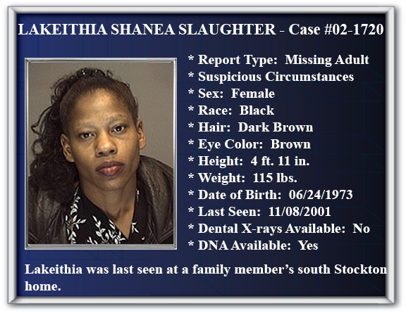 Missing Person Flyer of Lakeithia Shanea Slaughter