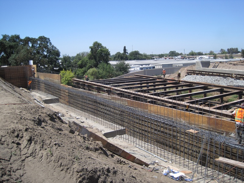 Construction Abutments and Falsework for French Camp
