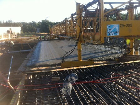 Deck Pours French Camp Slough